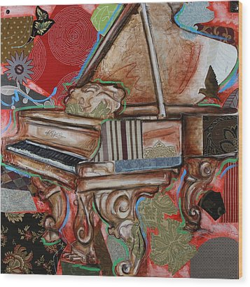 Me The Piano Wood Print