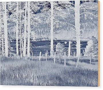 Meadow 9 Wood Print