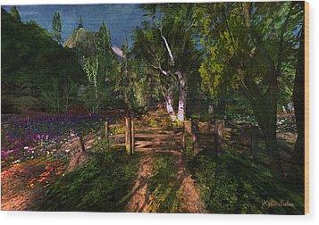 Meadow Gate Wood Print