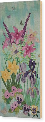 Meadow Of My Dream Wood Print by Denise Hoag