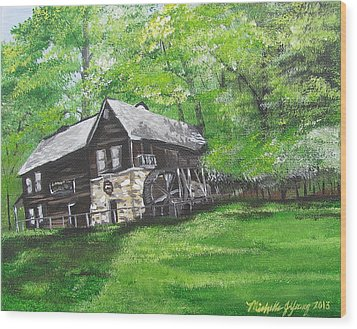 Meadow Run Mill Wood Print by Michelle Young