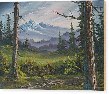 Meadow View Wood Print by C Steele