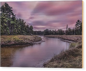 Wood Print featuring the photograph Meandering Inlet by Steve Zimic