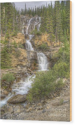 Wood Print featuring the photograph Meandering Waterfall by Wanda Krack