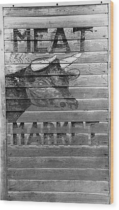 Meat Market, 1938 Wood Print by Granger