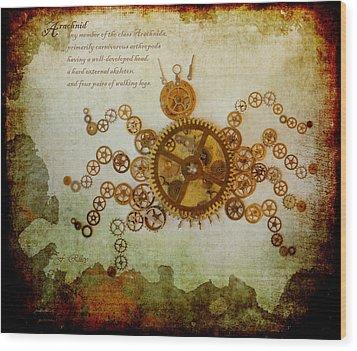 Mechanical - Arachnid Wood Print by Fran Riley