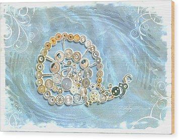 Mechanical - Snail Wood Print by Fran Riley