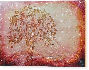 Mechanical - Tree Wood Print by Fran Riley