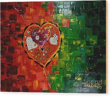 Mechanism Of Love Wood Print by Alexandru Rusu