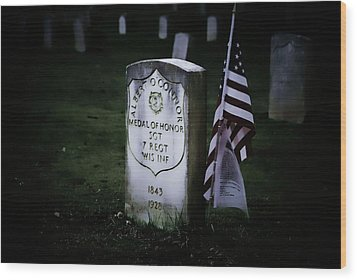 Medal Of Honor Wood Print by Ron Roberts