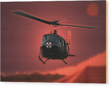 Medevac The Sound Of Hope Wood Print by Thomas Woolworth