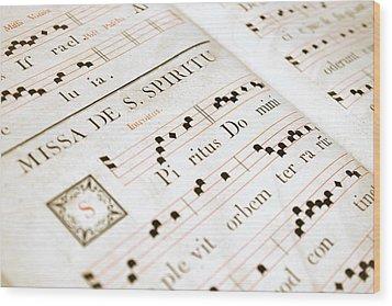 Mediavel Chorus Book  Wood Print by Fabrizio Troiani