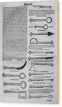 Medical Instruments, 1531 Wood Print by Granger