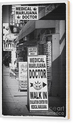 Medical Marijuana Doctor Wood Print by John Rizzuto