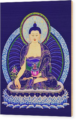 Medicine Buddha 6 Wood Print