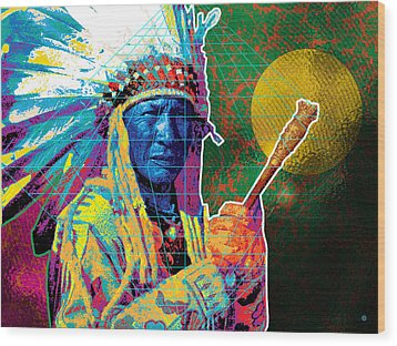 Medicine Man Wood Print by Gary Grayson