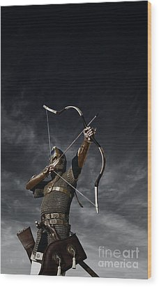 Medieval Archer II Wood Print by Holly Martin