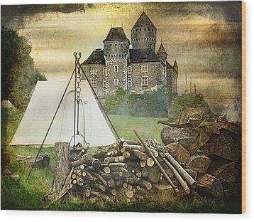 Medieval Castle Of Montrottier - France Wood Print by Barbara Orenya