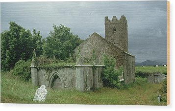 Medieval Church And Churchyard Wood Print by Unknown