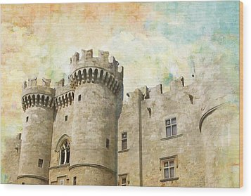 Medieval City Of Rhodes Wood Print by Catf