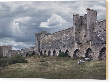 Medieval City Wall Defence Wood Print