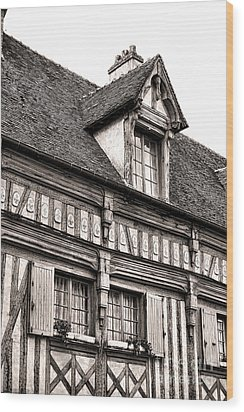 Medieval House Wood Print by Olivier Le Queinec
