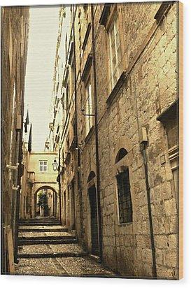 Medieval Street Wood Print