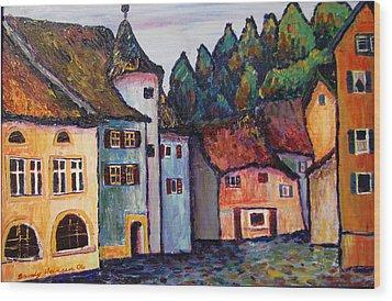 Medieval Village Of St. Ursanne Switzerland Wood Print