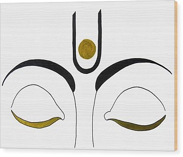 Meditation Wood Print by Kruti Shah