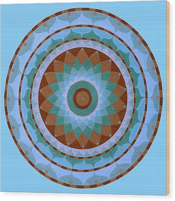 Meditation Mandala Wood Print by Vlatka Kelc