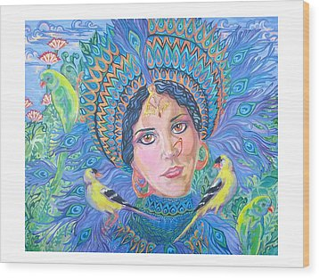 Wood Print featuring the painting Meditation by Suzanne Silvir