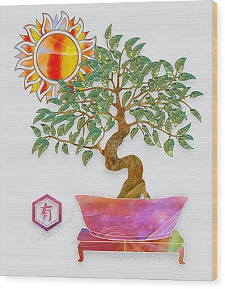Meditation Tree Wood Print by Gayle Odsather