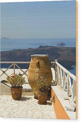 Mediterranean Meditation Wood Print