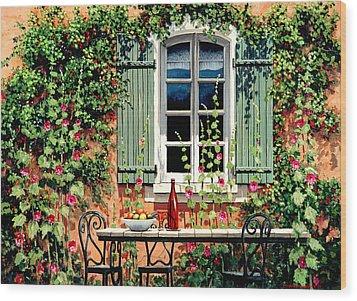 Mediterranean Memories - Oil Wood Print by Michael Swanson
