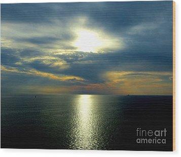 Mediterranean Sunset Wood Print