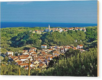 Mediterranean Town Of Susak Croatia Wood Print by Brch Photography