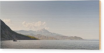 Wood Print featuring the photograph Mediterranean View by David Isaacson