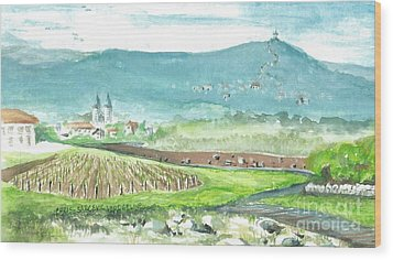 Medjugorje Fields Wood Print