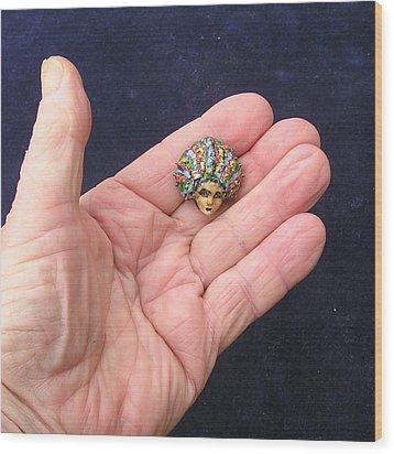 Medusa Cameo I I I Wood Print by Roger Swezey