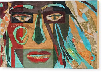 Medusa Wood Print by Diane Fine