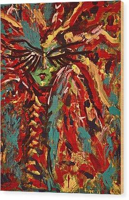 Medusa Wood Print by Jennifer Anne Harper