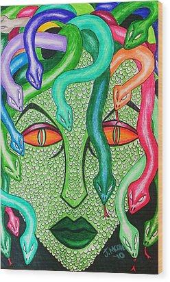 Medusa Wood Print by Jeremy Moore