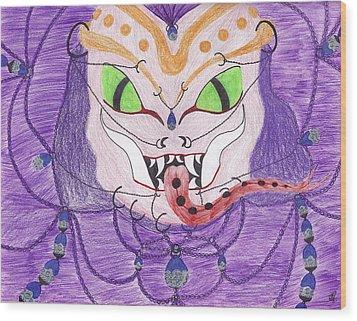 Medusa Wood Print by Random Merlin Ellis