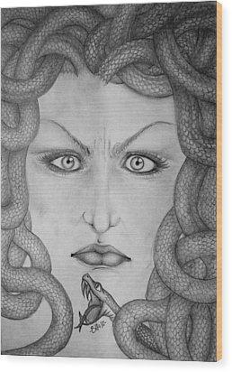Medusa Wood Print by  Silvia Mariottini