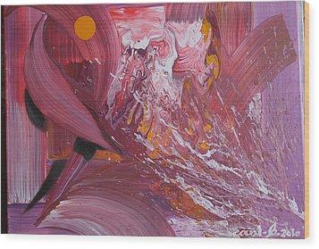 Medusas Bath Wood Print by Gani Banacia