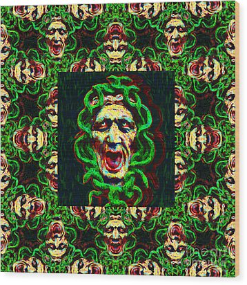 Medusa's Window 20130131p0 Wood Print by Wingsdomain Art and Photography