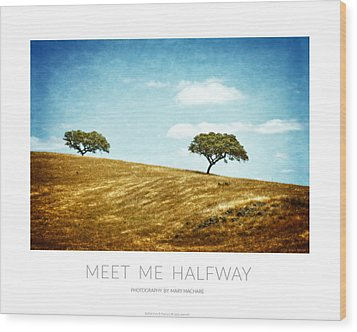 Meet Me Halfway - Poster Wood Print by Mary Machare