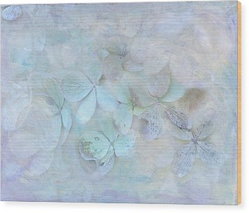 Meet Me In Petals Wood Print