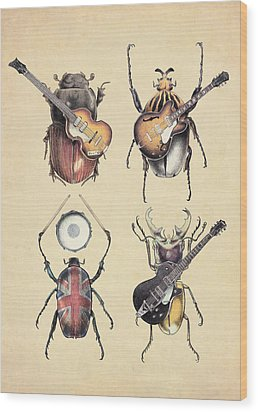Meet The Beetles Wood Print by Eric Fan