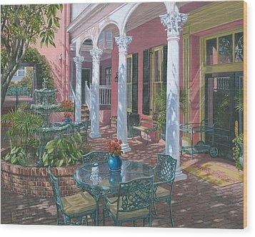 Meeting Street Inn Charleston Wood Print by Richard Harpum